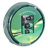 Smallrun 10M Manguera de Agua 1/2' Juego de Manguera de jardín Manguera de irrigación Manguera Flexible con Adaptadores (1/2X10M)
