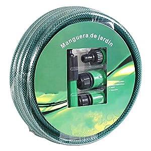 Smallrun 20M Manguera de Agua 1/2″ Juego de Manguera de jardín Manguera de irrigación Manguera Flexible Jardín Adaptadores (1/2-20M)