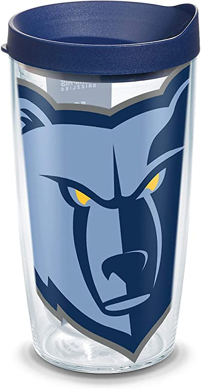 Tervis 1309319 NBA Memphis Grizzlies Colossal 16 Oz Tumbler With Lid 16oz Clear