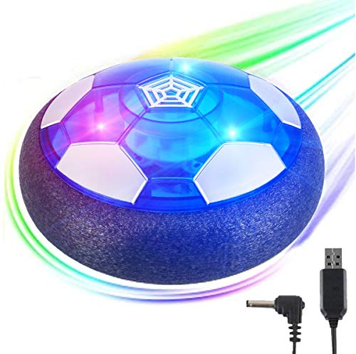 Hover Soccer Ball Kids Toys, Rechargeable Hover Soccer Ball with Colorful LED Lights and Protective Foam Bumper for 3 4 5 6 7 8-12 Years Old Boy Girl, Air Power Soccer Hover Ball for Kids Soccer Game