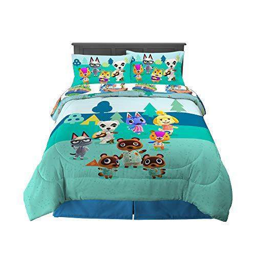 Franco Kids Bedding Super Soft Comforter and Sheet Set, 5 Piece Full Size, Animal Crossing
