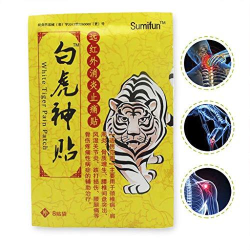 Chou Baume Du Tigre Patch | 8pcs Patchs Anti Douleur Récupération | Baume Chinois Pour Anti Douleur, Anti Inflammatoire, Mal De DOS