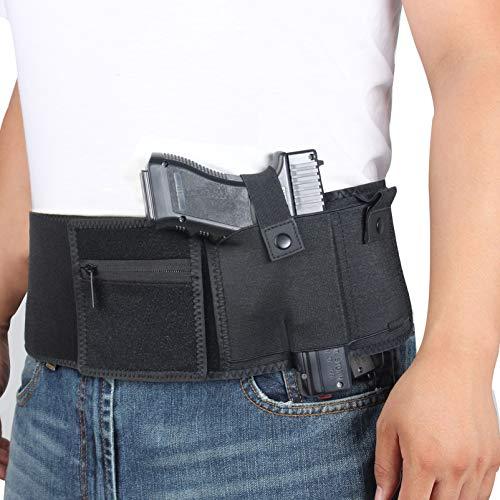 N \ A Banda para la Cintura con pistolera para Pistola, Compatible con Glock, Smith & Wesson, Taurus, Colt, Kimber, Beretta, Kahr, FN, Ruger, etc, cómoda Funda Transpirable, Unisex