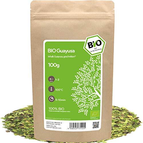 amapodo - Guayusa Tee Bio 100g - Kaffee Alternative mit Koffein - Biotee loser Feinschnitt - Fresh Focus Energy Tea Power - Ilex guayusa - kleine Geschenke für Frauen & Männer