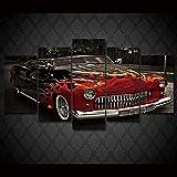 45Tdfc Cuadro En Lienzo 5 Piezas Pintura 1949 Red Ladsled Mercury Car Moderno Fotos Material Te Jido No Tejido Arte Pared DecoracióN HogareñA ImpresióN