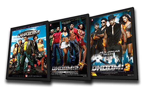 Set of 3 (Dhoom / Dhoom 2 / Dhoom 3) (Bollywood Movies / Indian Cinema / Hindi Film) (Valentine's Day)(ROMANTIC)
