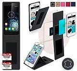 reboon Hülle für Elephone S2 Plus Tasche Cover Case Bumper | Schwarz Leder | Testsieger