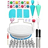 Cake Decorating Kit 78 pcs Cake Decoration Tools with a Non Slip Base Cake Turntable 32 Numbered Cake Icing Tips & Guide and Other Cake Decorating Supplies for Beginners and Baking Supplies