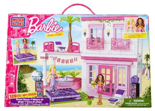 mega bloks barbie Mega Bloks 80226U - Barbie e La Casa dei Party in Spiaggia