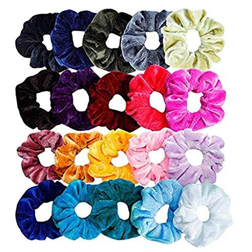 TwoCC 20 Stück elastische Samt Haarbänder für Haarschmuck für Frauen oder Mädchen