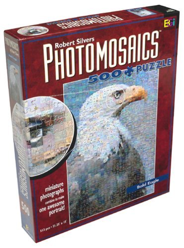 Buffalo Games Robert Silvers Photomosaics 500 Piece Puzzle: Bald Eagle by by