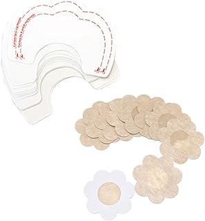 5 Pair U Shape Breast Lift Tape & 5 Pair Nipple Covers Bra Tit Tape Cups A-D (Syle B)