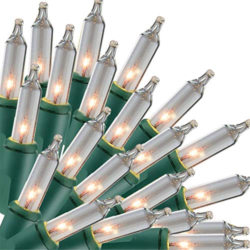 Christmas Lights, 150 Lights Incandescent Mini Clear String Light, 120V UL Certified Xmas Warm Tree Lights for Christmas Patio, Holiday, Party, Home,...