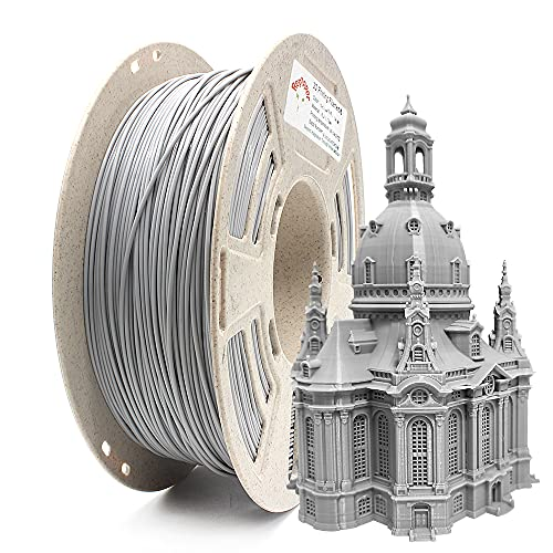 Reprapper Filamento PLA 1.75 1kg para Impresión 3D, PLA 1.75mm (± 0.03) para Impresora 3D, Gris