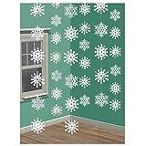 Winter- oder Weihnachts Girlanden als Deckenhänger 6 einzelne Schneeflocken Girlanden, die alle 2 Meter lang sind, beinhalten dieses Set. Die Schneeflocke haben einen Durchmesser von 12cm und sind aus Plastikfolie, sehr haltbar. Anlass: Weihnachten, ...