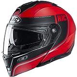 HJC Helmets i90 Helmet - Davan (X-Large) (RED)