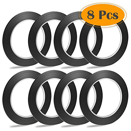 "selizo 8 Rolls 1/8"" Black Whiteboard Tape Lines"