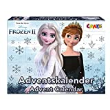 CRAZE Adventskalender FROZEN II Weihnachtskalender 2021 Eiskönigin Eisprinzessin für Mädchen Spielzeugkalender Kinderschmuck Schlüsselhänger 31247