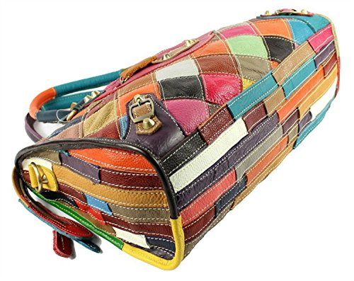 Multicolour Patchwork Leather Handbag / Shoulder Bag