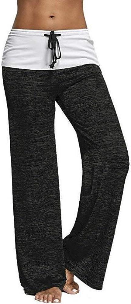 ULIAN Women's Comfy High Waist Casual Loose Drawstring Wide Leg Lounge Pants