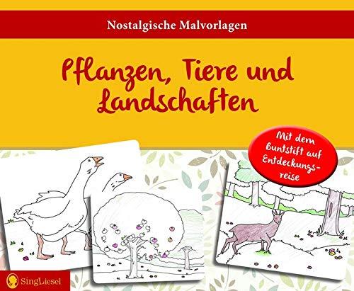 Malvorlagen für Senioren: Pflanzen, Tiere und Landschaften