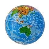 Ogquaton Forma del Mapa del Mundo Azul Globo terrestre Alivio del estrés Bola Hinchable Atlas Geografía Juguete TH092 Ejercicio para niños Niños fácil de Usar