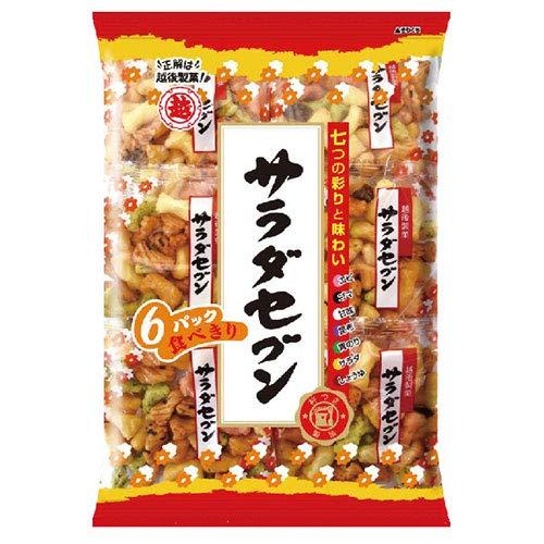 越後製菓 サラダセブン 135g(22.5g×6)×12袋入