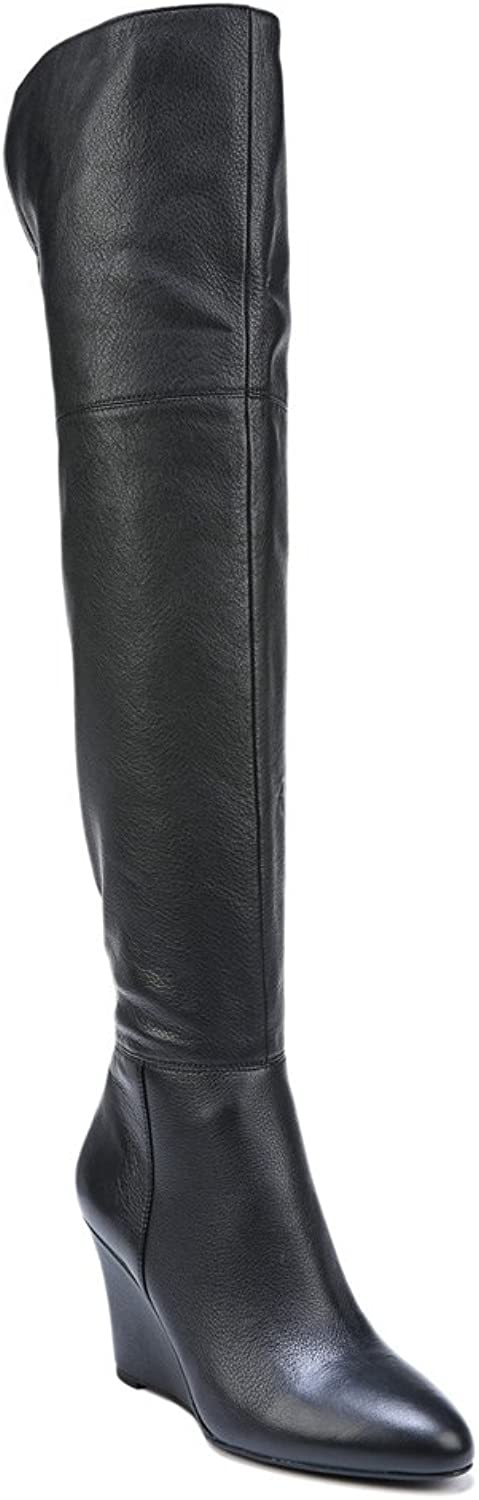 Via Spiga Womens Kennedy Leather Almond Toe Over Knee Fashion Boots