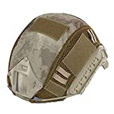 ATAIRSOFT Airsoft Tactical Helmet Cover para PJ/BJ/MH Tipo Casco rápido con Bolsa Trasera (A-TACS)