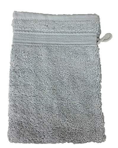 Alpes Blanc Lot de 10 Gants de Toilette Éponge 600gr/m² Coton - 20x15cm - Gants de Toilette - Gris/Grey