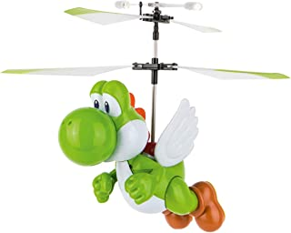 Carrera RC - Officially Licensed Super Mario Flying Yoshi 2.4Ghz 2-Channel Rechargeable Remote Control Helicopter Drone Toy with Easy to Fly Gyro System