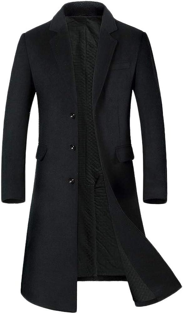 Mordenmiss Ultra-Cheap Deals Men's Long Beach Mall Long Slim Peacoat Wool G Winter Blazer Business