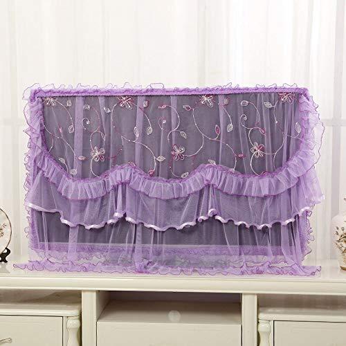 XKMY Cubierta protectora de TV para pantalla de TV de doble capa de encaje, cubierta contra el polvo para la decoración del hogar (color: 06, especificación: 47 pulgadas)