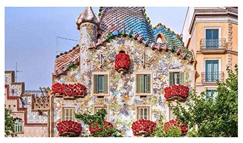 SJYYR Casa Batlló Barcelona, España Rompecabezas de bricolaje de 300 piezas Rompecabezas para adultos Rompecabezas de madera Rompecabezas para niños Juguetes educativos Regalos