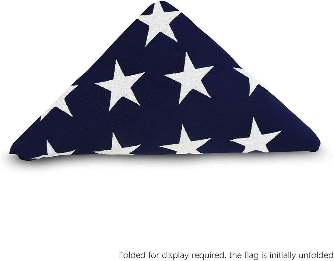 Folded Discount Over item handling ☆ mail order Memorial Flag American US Foot Cott Heavy Duty 5x9.5