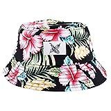Blackskies Paradise Bucket Hat Chapeau de Soleil Casquette de Baseball Floral Unisexe -...