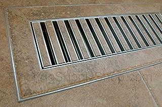 Chameleon Floor Vent Registers - match any Floor Tile, Hardwood or Laminate (6 x 12 x 1/2)