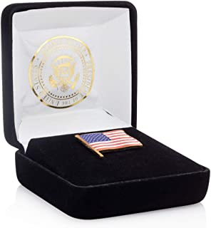 President Donald J. Trump American Flag Lapel Pin - Limited Edition 24K Gold Lapel Pin