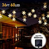 YODI 1800Mah Solar String Lights - 36Ft/11M 60led Outdoor Garden Fairy Light-8 Modes&IP