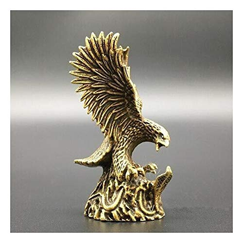 Brass Eagle and Snakes Small Statue, Garden Ornaments, Living Room Office Fengshui Ornaments Craft