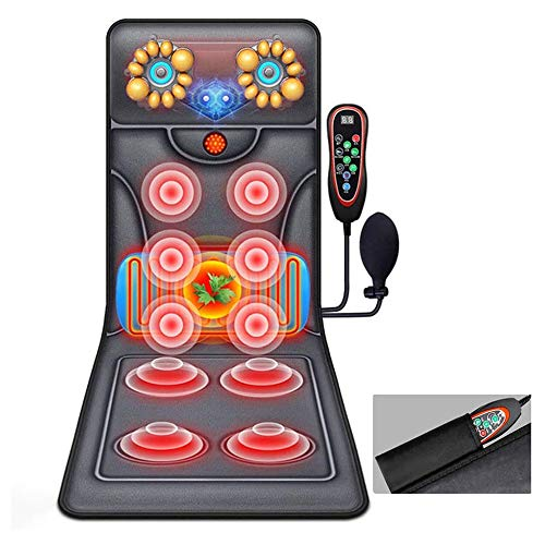 ACCDUER Massage Mat, Full Body Heating Massage Pad Shiatsu Vibration Electric Heating Massage Mattress Pad Neck,Shoulder Back Massager for Pain Relief