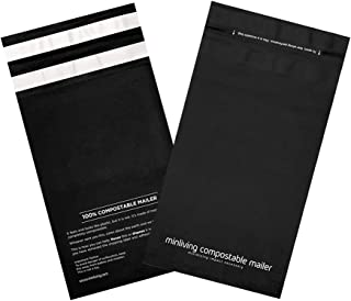 100% Compostable Biodegradable Mailers 6x9 inch Poly Mailers, Eco-Friendly Packaging Envelopes Pouches. Reusable Double Se...