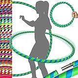 PRO Hula Hoops Reifen für Anfänger und Profis Faltbarer TRAVEL