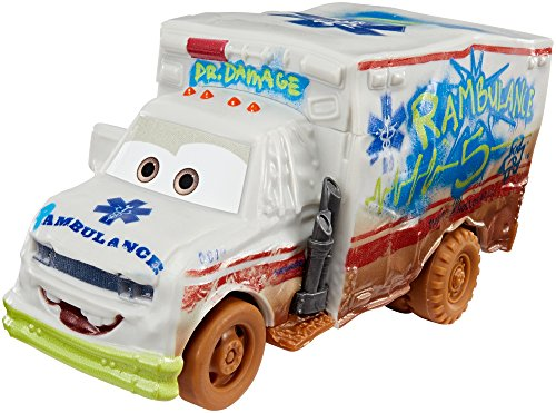 Cars 3- Coche Crazy Deluxe Ambulance (Mattel DYB22)