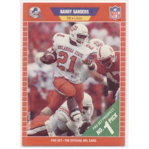 Amazoncom 1989 Pro Set 494 Barry Sanders Rc Detroit Lions