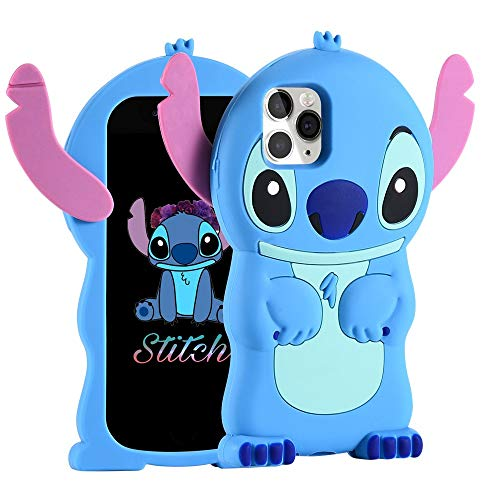 FINDWORLD Cases for iPhone 11 Pro Max, Lilo Stitch Cute 3D Cartoon Soft Silicone Animal Character Shockproof Anti-Bump Protector Boys Kids Gifts Cover Housing Skin for iPhone 11 Pro Max 6.5""