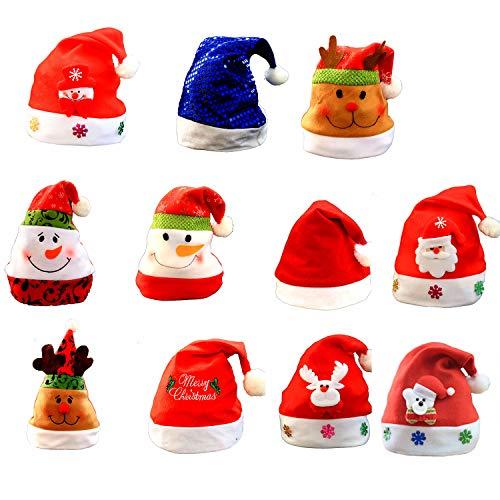 (5 Packs) Kerstmuts, Kinder Hoed Familie Feest viering en Entertainment Kerstversiering