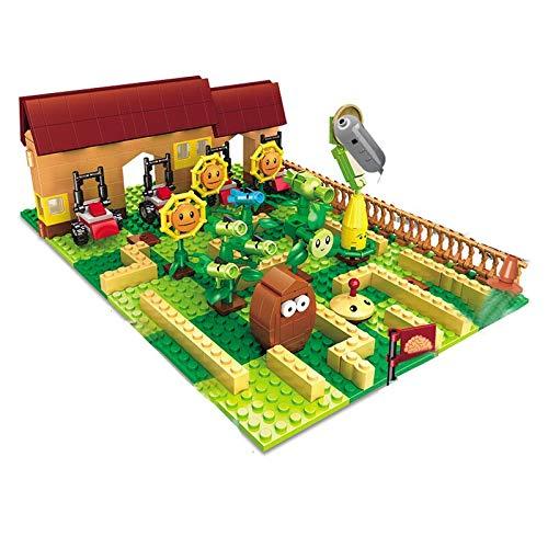 Rawikan Plant Vs. Zombie Set Granja Laberinto Bloques de construcción regalo (Compatible con Lego)