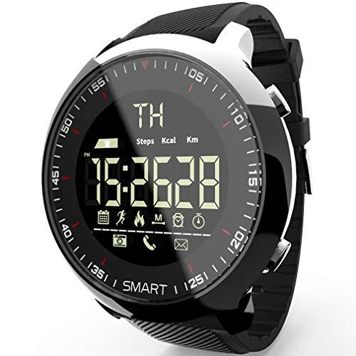 HehiFRlark Reloj Deportivo Inteligente EX18 para Hombre, podómetro Luminoso a Prueba de Agua, Fitness Inteligente con medición de presión, medidor de Pulso, rastreador, Negro