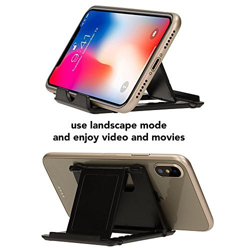 NALIA Handy-Halterung, Universal Ständer Multi-Winkel Verstellbar, Kick-Stand Faltbar mit Gummi-Füßen für Smartphones und Tablets, z.B. kompatibel mit iPhone, kompatibel mit Samsung, Farbe:Weiß